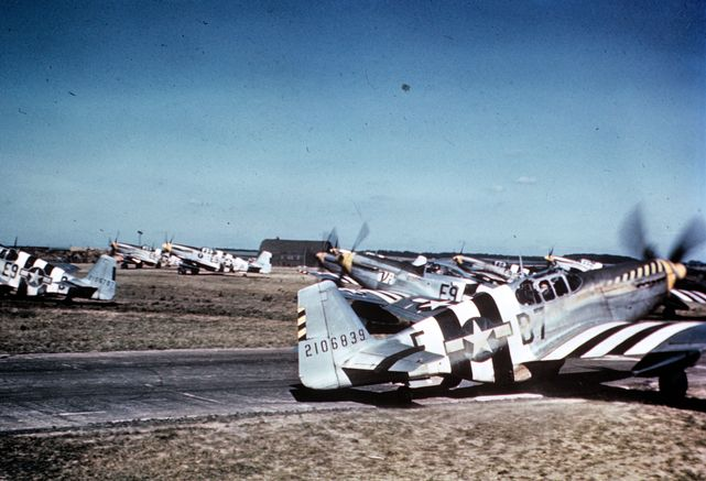 361st fg p 51b mustangs at bottisham