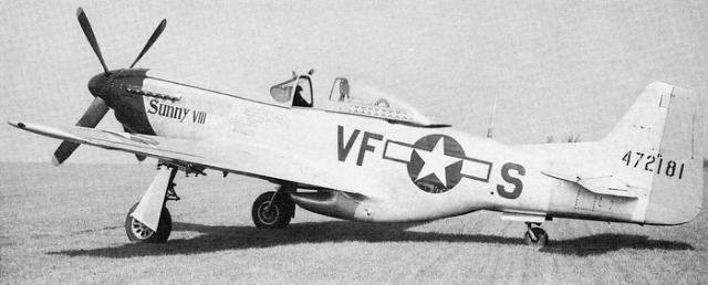 Mustang p 51d 20 na 4th fg 336th fs col everett stewart