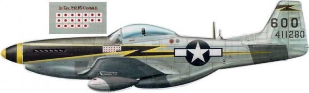 Mustang p 51d 5 nt 118th trs 23rd fg edward o mccomas
