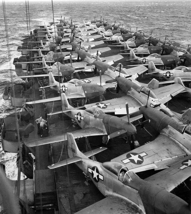 P 51 mustang uss kalinin bay