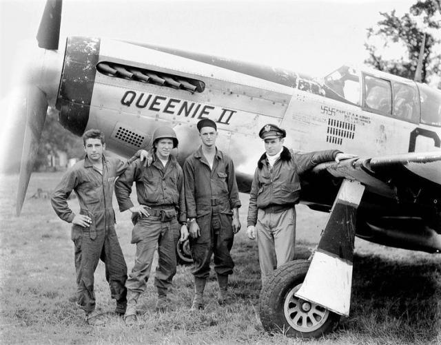P 51b queenie ii richard asbury 382nd fs