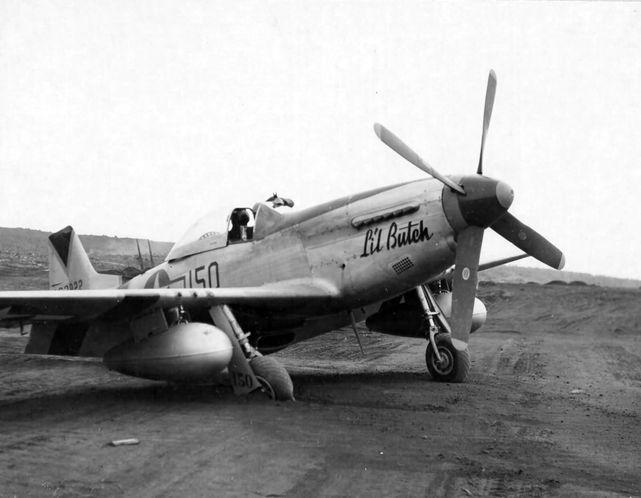 P 51d 44 63822 lil butch 47th fs 15th fg iwo jima 1945