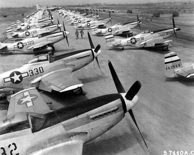 P 51d mustangs 531st fs 21st fg iwo jima 1945