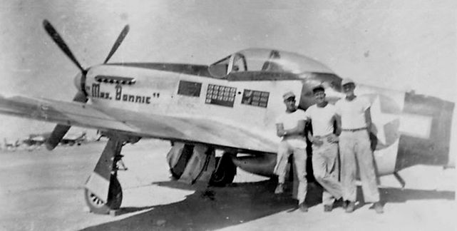 P 51k mustang 348th fg mrs bonnie
